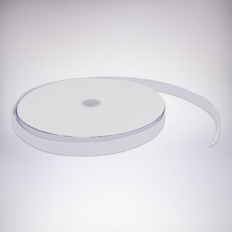 Suchý zips samolepiaci drsny biely