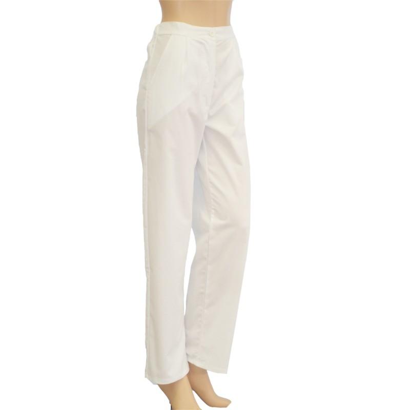 Kuchárske nohavice biele