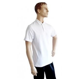 Polokošeľa biela KR pique 180g/m2