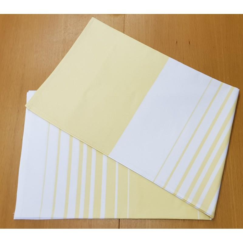 Saunová plachta JOLANA 150 x 120 žlto - biele pruhy, PTK 150g/m2