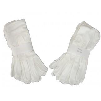 Čašnícke  rukavice - Jemná bavlna,  biele
