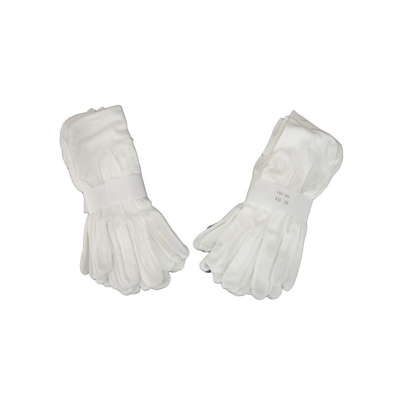 Čašnícke rukavice bavlna biele